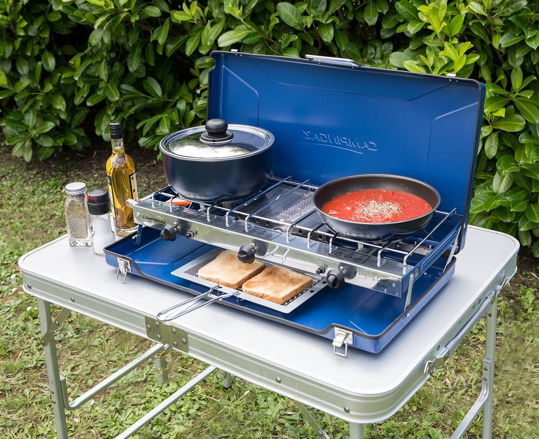 camping gas folding chef gas cooker stove grill alfresco. Black Bedroom Furniture Sets. Home Design Ideas