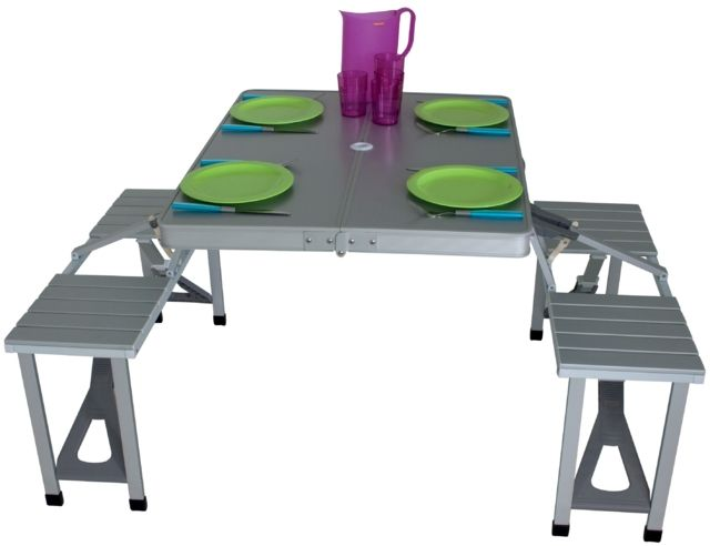 95 Camping Table And Bench Set