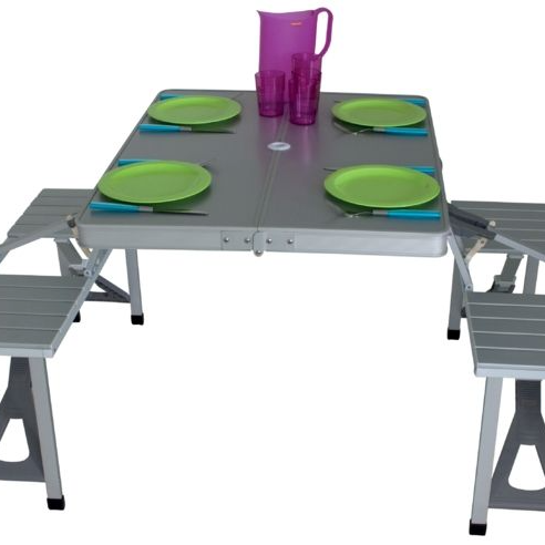 Folding Table Chair Aluminium Set Folding Tabale And Bench Set